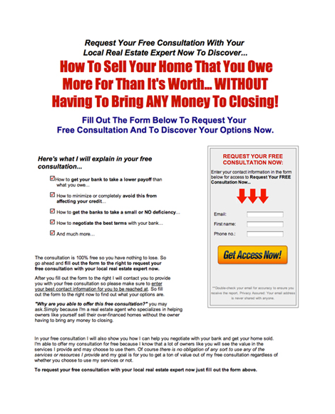 Sell Your Over Financed Home
