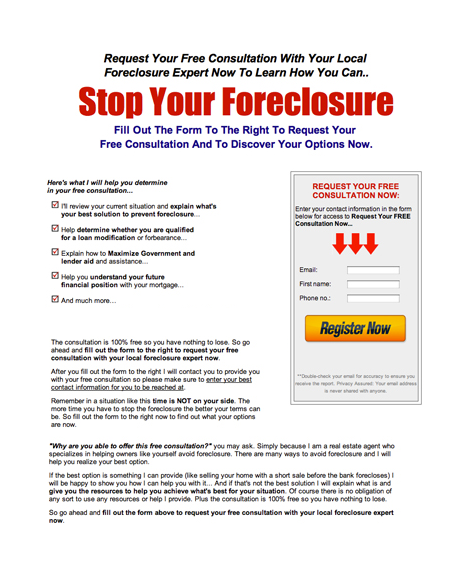 Stop Your Foreclosure Or Short Sale
